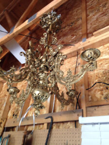 VINTAGE CHANDELIER-PERFECT SHABBY CHIC/ MIX OLD with NEW DECOR