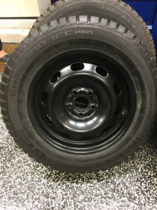 Set of 4 winter tires off a vw
