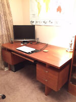 """Classic Teak desk from """"Les Meubles R.S Furniture Montreal"""""""