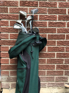 Men 12 pieces complete golf set and golf bag, right handed