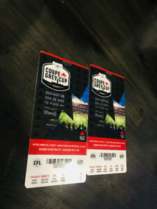 TWO GREY CUP 2017 TICKETS $185 EACH ***PRICE NEGOTIABLE **