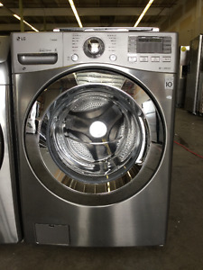 """27"""" Stainless SteeFront Load LG Washer Heavy Duty Large Capacity"""