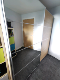 Fantastic Ikea double PAX wardrobe with all storage accessories