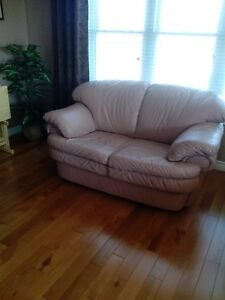 LEATHER SOPHA AND LOVE SEAT