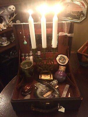 Spirit Travelers Antique WITCH BOX Witchcraft Altar Box Wicca Pagan Spell Kit