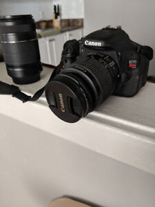 Canon EOS T3i  18-55 mm with 55-250 mm attachment