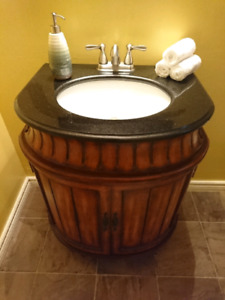 Vanity for bathroom - antique barrel