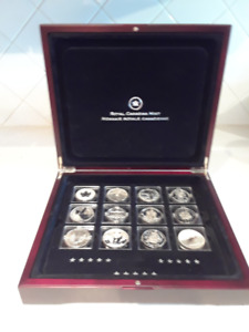 Royal Canadian Mint F15 Silver Proof Coins Set