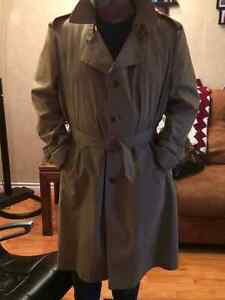 London Fog Trench Coat Size 52 Long