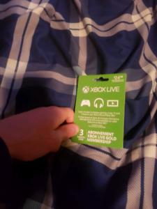 xbox live gold 3 months for trade or cash