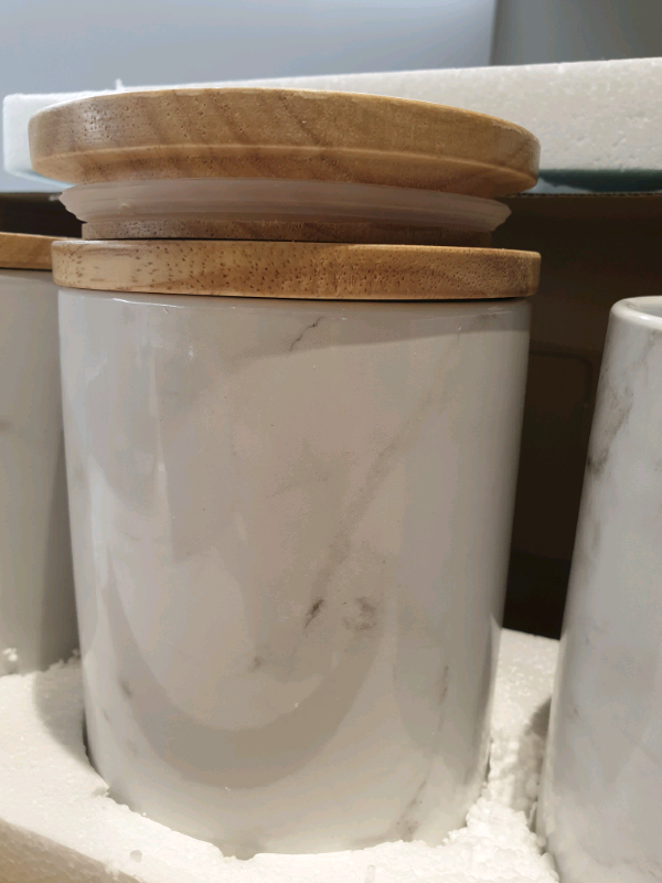 Argos Home Set Of 3 Marble Storage Jars In Wembley London Gumtree