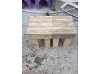 Small wooden stools x2. Reclaimed wood.