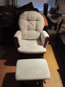 Glider Chair with matching Ottoman