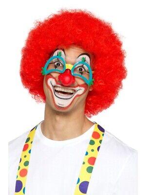 gelockt Karneval Zirkus Accessoire (Rote Clown Perücke)