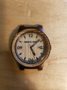 Gorgeous watch by Original Grain with reclaimed whiskey cask oak