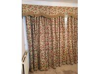 Heavy brocade curtains