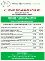 CUSTOMS SHORT COURSES TO GET JOB WITH CUSTOMS BROKERS
