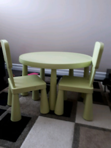 IKEA Mammut Kids Table and 2 Chairs