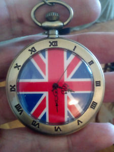 Brand New British Union Jack Pocket Watch.