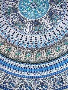 Indian Print Mandala Round Cotton tablecloth 70