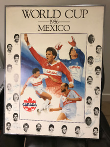 1986 Mexico World Cup  Poster - Canada Team with Signatures RARE