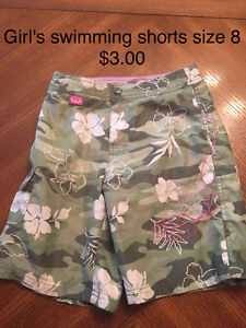 Girl's swimming shorts