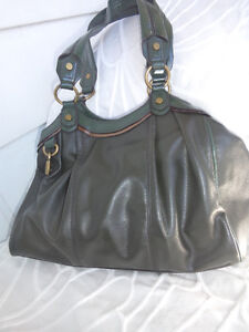 Vera Wang two tone green man made leather- good size... 10.00