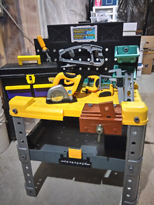 Junior Tradesman Workbench with tools - $30