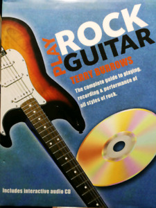 "New ""Play Rock Guitar"" Book Terry Burrows Cd included"