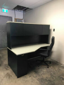 Desk with book hutch