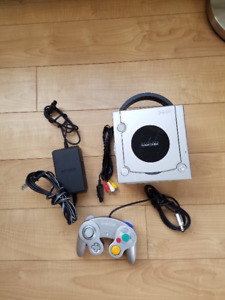 GameCube console with digital AV out, controller, hookups