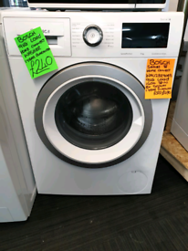 White bosch 9kg load washing machine