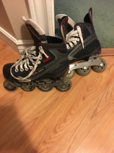 hockey roller blades for sale  fairly used for 20$