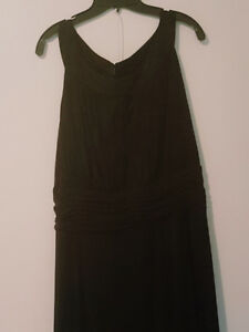 Black ladies floor-length evening gown