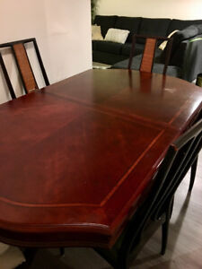 Wood dining table - negotiable