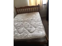 Double bed with Mattres/ free delivery