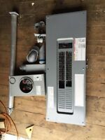 200 Amp Panel Box with all Breakers meter box, mask with wire.