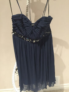 RICKIS SIZE 14 NAVY BLUE DRESS - WORN ONCE