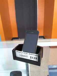 iPhone 4s 16GB Excellent Condition Bell/Virgin 90 day warranty