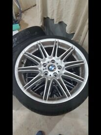 3 sets of bmw alloys. 19 Inch Spiders 19 Inch mv4 and 22 Inch x6