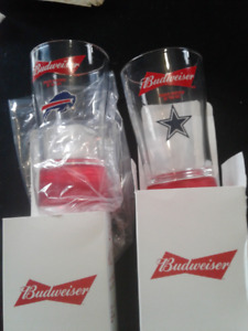 ☆NFL TOUCHDOWN FOOTBALL SYNCED GLASS CUP ALL TEAMS PLUS NFL LOGO