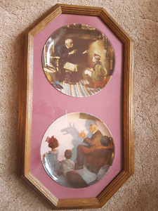 Limited Edition, Framed Norman Rockwell Plates