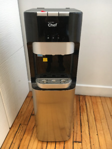 Water Cooler, Bottom Load, Black/Stainless St