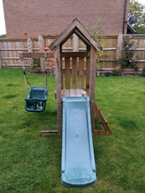 Dunster House Microfort Climbing Frame with Slide and Swing
