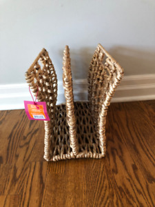 Magazine rack/stylish organizer  with 2 sections. New with tags