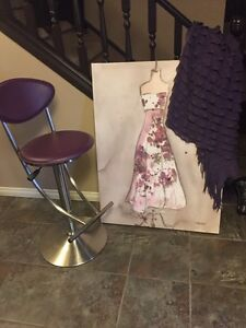 Girls room decor ? Or for anywhere ! Picture chair throw blanket
