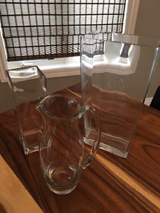 Assorted Glass Vases and Pitcher