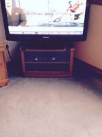 Small wood / glass tv stand