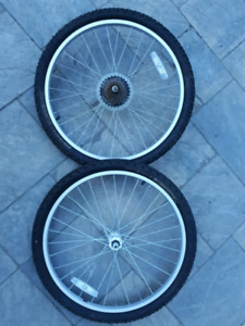 Bike Wheels/Tires - 26 and 24 Inch - Front/Back