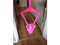 Pink lindem door bouncer